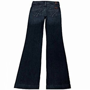 7 For All Mankind Dojo 25X33 Long Flare Blue Jeans